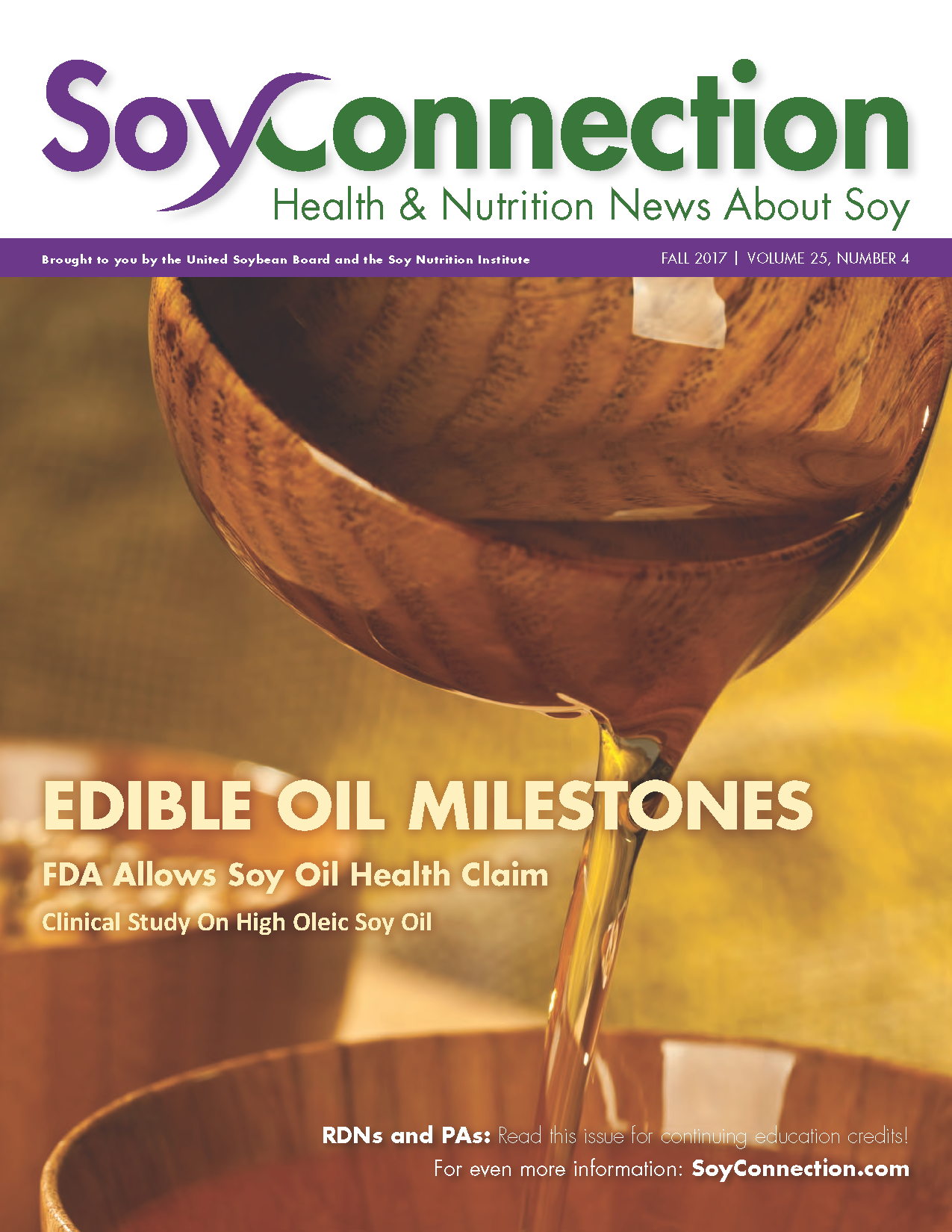 Soy Connection Edible Oil Milestones